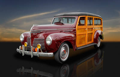 Woody Wagon Photograph - 1940 Plymouth Deluxe Woody Wagon - 1 by Frank J Benz