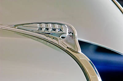 Hoodie Photograph - 1940 Plymouth Hood Ornament 3 by Jill Reger