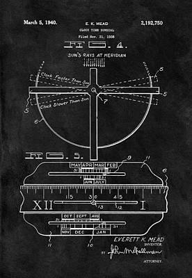 1940 Sundial Print by Dan Sproul
