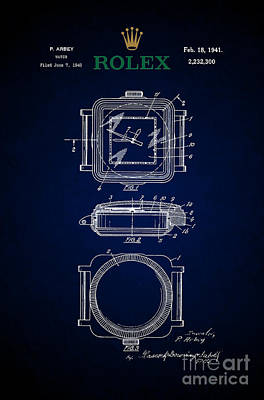 1941 Rolex Watch Patent 5 Print by Nishanth Gopinathan