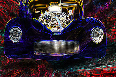 Street Rod Drawing - 1941 Willys Coope Classic Car Color Drawing 1241.02 by M K  Miller