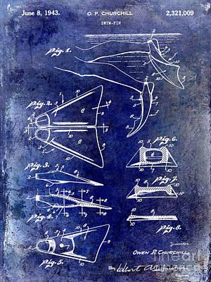 1943 Photograph - 1943 Scuba Fins Patent by Jon Neidert