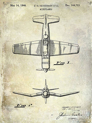 1946 Airplane Patent Print by Jon Neidert