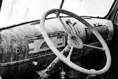 Rusty Old Trucks Photograph - 1946 Chevy Work Truck Dashboard by Jon Woodhams