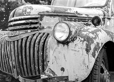 Classic Truck Photograph - 1946 Chevy Work Truck Fender And Grill by Jon Woodhams