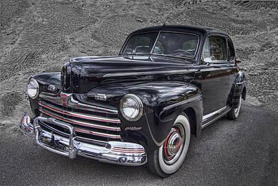 1946 Ford Print by Debra and Dave Vanderlaan