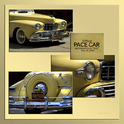 1946 Indy 500 Pace Car Collage Print by Thomas Woolworth