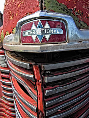 Classic Truck Photograph - 1946 International Harvester Truck Grill by Daniel Hagerman