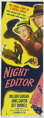 Painting - 1946 Night Editor Long Poster by R Muirhead Art