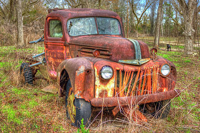 1947 Ford Truck And Friend Print by Reid Callaway