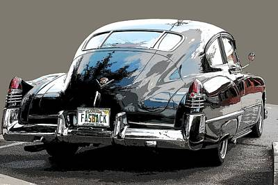 Two Tailed Photograph - 1948 Fastback Cadillac by Robert Meanor