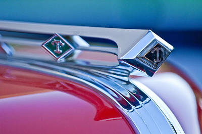 1949 Diamond T Truck Hood Ornament 3 Print by Jill Reger