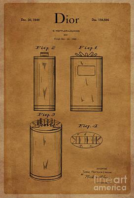 1949 Dior Perfume Box Package Design 1 Print by Nishanth Gopinathan