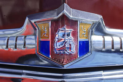 1949 Plymouth Photograph - 1949 Plymouth P-18 Special Deluxe Convertible Emblem by Jill Reger