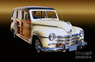 1949 Plymouth Woodie Wagon Print by Thomas Burtney
