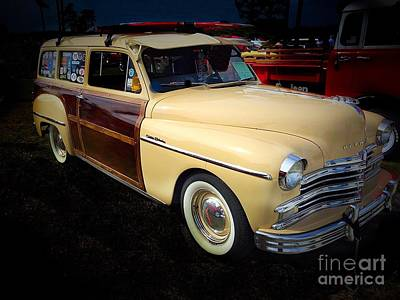 1949 Plymouth Woody Print by Anne Sands