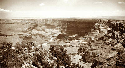 Black White Photograph - 1950 Grand Canyon Desert Point by Marilyn Hunt