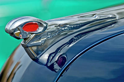Hoodie Photograph - 1951 Dodge Pilot House Pickup Hood Ornament by Jill Reger