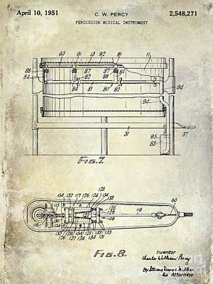 Beaters Photograph - 1951 Drum Patent  by Jon Neidert