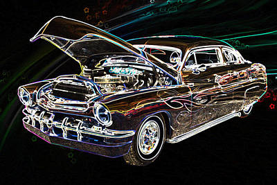 Street Rod Drawing - 1951 Mercury Classic Car Drawing 051.02 by M K  Miller