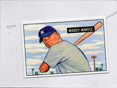 1951 Mickey Mantle Original by Bowman Gum