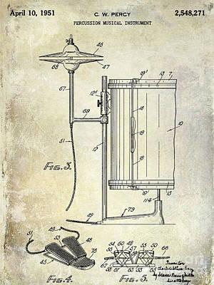 1951 Percussion Patent Print by Jon Neidert