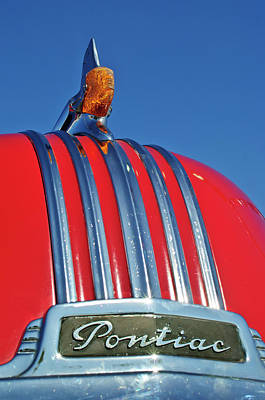 1951 Pontiac Chief Hood Ornament 2 Print by Jill Reger