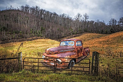 1952 Ford V8 Truck Print by Debra and Dave Vanderlaan