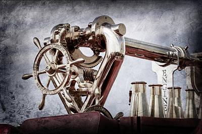 Photograph - 1952 L Model Mack Pumper -0198ac by Jill Reger
