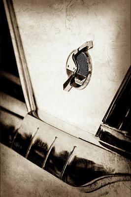 1952 Studebaker Emblem -0624s Print by Jill Reger