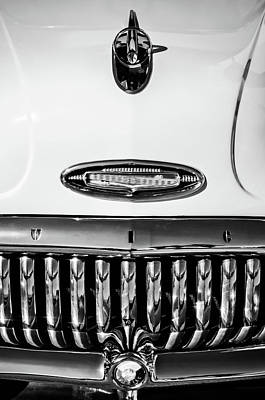 Photograph - 1953 Buick Special Hood Ornament -0133bw by Jill Reger