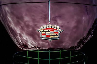 1953 Cadillac Series 62 Hood Emblem -0835c Print by Jill Reger
