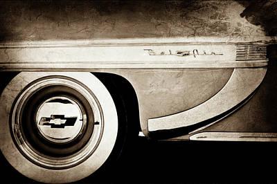 1953 Chevrolet Bel Air Wheel Emblem -609s Print by Jill Reger