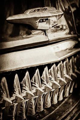 1953 Chevrolet Grille Emblem -632s Print by Jill Reger