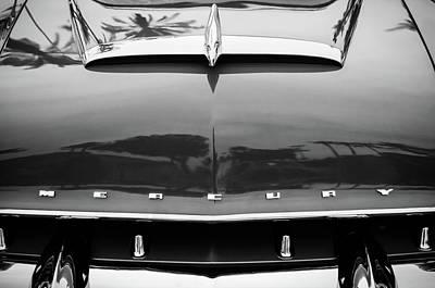 Photograph - 1953 Mercury Monterey Grille Emblem -0089bw by Jill Reger