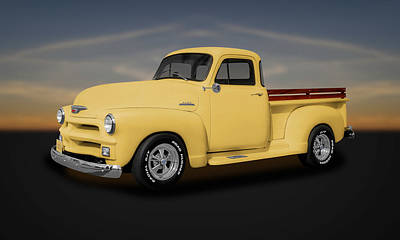 1954 Chevrolet 3100 Series Pickup Truck  -  54chtk544 Print by Frank J Benz