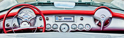 1954 Chevrolet Corvette Dashboard Print by Jill Reger