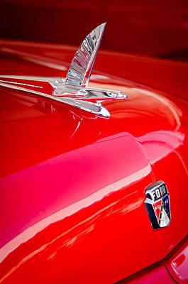 1954 Ford Crestliner Sunliner Hood Ornament - Emblem Print by Jill Reger