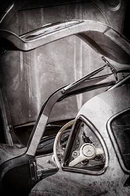 Mercedes Benz 300 Classic Car Photograph - 1954 Mercedes-benz 300sl Gullwing Steering Wheel -1653ac by Jill Reger