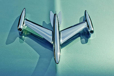 Hoodie Photograph - 1954 Oldsmobile Super 88 Hood Ornament 2 by Jill Reger