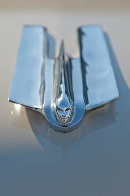 Hoodie Photograph - 1955 Cadillac Coupe Hood Ornament by Jill Reger
