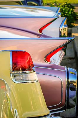 1955 Cadillac Taillights - 1960 Cadillac Taillights -0483c Print by Jill Reger