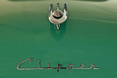 1955 Packard Clipper Hood Ornament 2 Print by Jill Reger