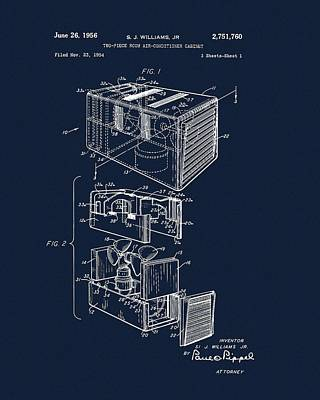 1956 Air Conditioner Patent Print by Dan Sproul