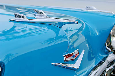 1956 Chevrolet Belair Nomad Hood Ornament Print by Jill Reger