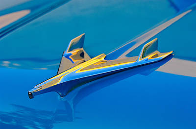 Hoodie Photograph - 1956 Chevrolet Hood Ornament 2 by Jill Reger