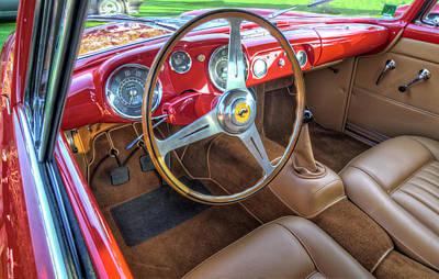 1956 Ferrari 250 Gt Boano Alloy Interior Print by John Adams