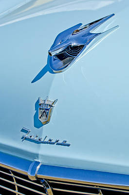 1956 Ford Fairlane Hood Ornament 3 Print by Jill Reger