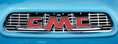 1956 Gmc 100 Deluxe Edition Pickup Truck  Grille Emblem -0584c Print by Jill Reger
