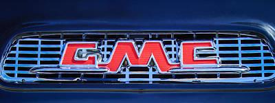 1956 Gmc Suburban Pickup Grille Emblem -0194c2 Print by Jill Reger